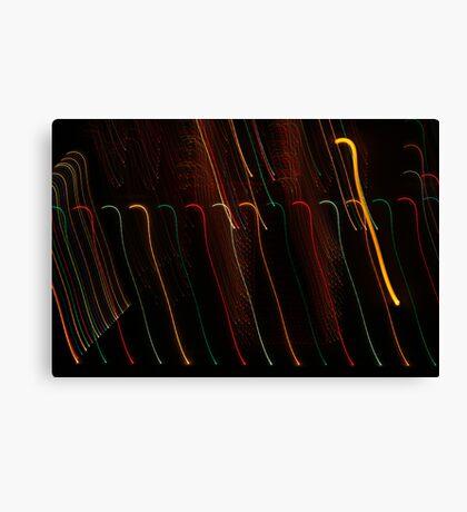 Suburb Christmas Light Series - Colour Canes Canvas Print