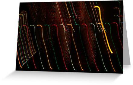 Suburb Christmas Light Series - Colour Canes by David J. Hudson