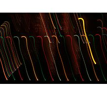 Suburb Christmas Light Series - Colour Canes Photographic Print