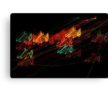 Suburb Christmas Light Series - Jingle Scribble Canvas Print
