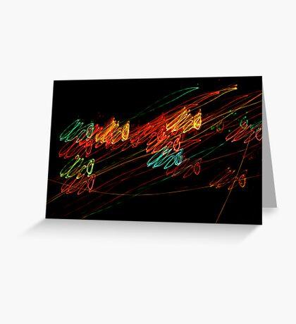Suburb Christmas Light Series - Jingle Scribble Greeting Card