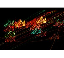 Suburb Christmas Light Series - Jingle Scribble Photographic Print