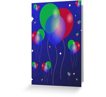 Balloons in space. Greeting Card