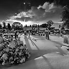 Haddington Graveyard by bluefinart