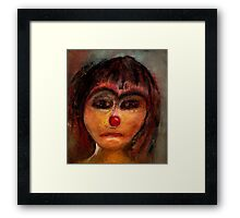 the red nose Framed Print