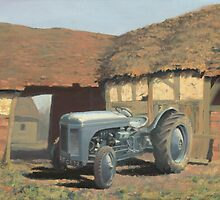 Tractor and Barn by Richard Picton