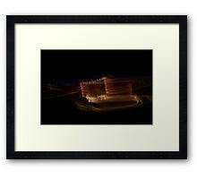Suburb Christmas Light Series - The other Reindeer Framed Print