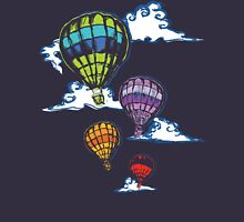 Hot-air Balloons in the Evening  Womens Fitted T-Shirt