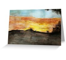Watercolor Sunset Greeting Card