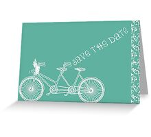 Save the Date Breakfast at Tiffany Blue Collection Greeting Card