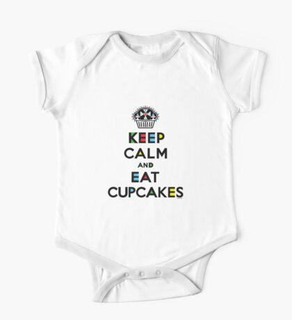 Keep Calm and Eat Cupcakes - mondrian  Kids Clothes