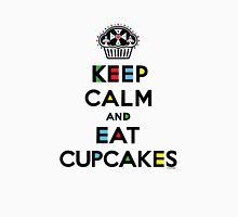 Keep Calm and Eat Cupcakes - mondrian  Womens Fitted T-Shirt