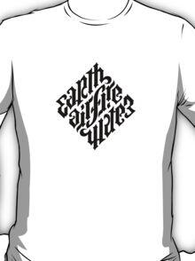earth air fire water ambigram T-Shirt