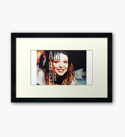 Amber Benson Framed Print