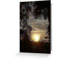 Sunset on Savage Island Greeting Card