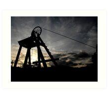 Blists Hill Mining Wheel Art Print