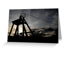 Blists Hill Mining Wheel Greeting Card