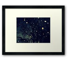 Blue Christmas without you Framed Print