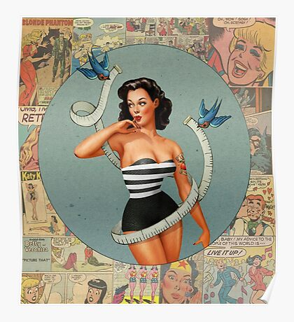 Pin Up And Comic Poster