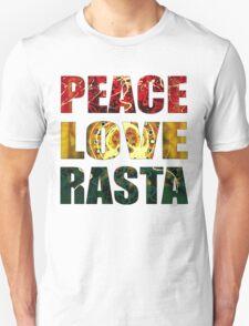 Peace, Love and Rasta Unisex T-Shirt