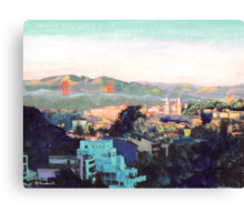 San Francisco California North to Goldengate Canvas Print
