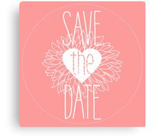 Save the Date Pretty in Pink Collection Canvas Print