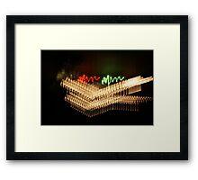 Suburb Christmas Light Series - Xmas Smile Framed Print