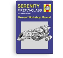 Serenity - Owners' Manual Canvas Print