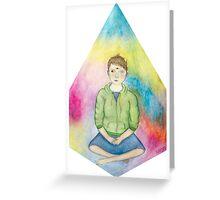 Sitting Enby Greeting Card