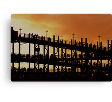 Sunset Walk at Gillette Stadium Canvas Print
