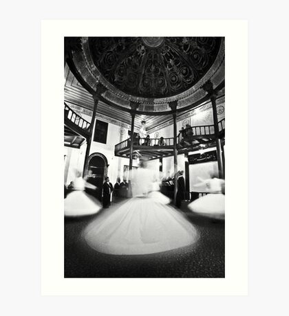 Whirling dervishes preserving Safi tradition in Turkey Art Print