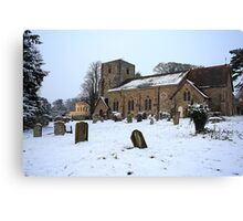 St Michael's In The Snow Canvas Print