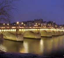 A cold evening on the Pont Neuf, Paris by Cian T Murphy