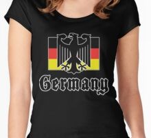 Germany Flag Women's Fitted Scoop T-Shirt