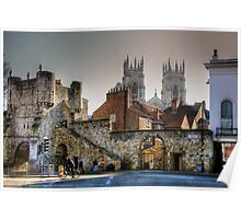 Bootham Bar & the Towers of York Minster Poster