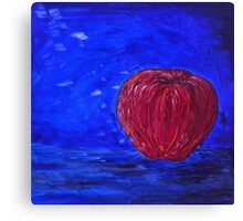 Red Apple on a Blue Day Canvas Print