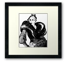 1930's tough broad Framed Print
