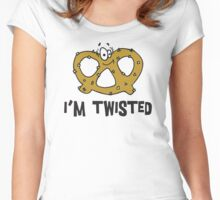"Funny Pretzel ""I'm Twisted"" Women's Fitted Scoop T-Shirt"