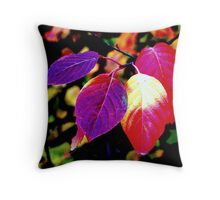 """Colorful Leaves"" Throw Pillow"