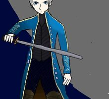 Vergil from Devil May Cry - Print by phne