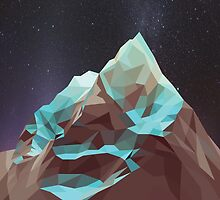 Night Mountains No. 5 by BakmannArt