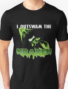 I Outswam the Kraken -Green T-Shirt