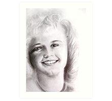 smile in black and white Art Print