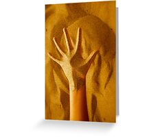 Sandy Hand Greeting Card