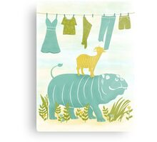 Humphrey the Hippo and the Cameroon Mountain Goat Metal Print