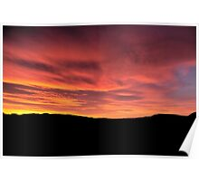 Vibrant Sunset, Carse of Gowrie (1) Poster