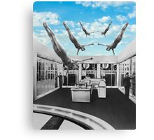 Swimming in a pool of Logic Canvas Print