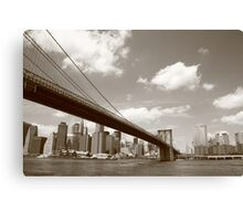 Brooklyn Bridge - New York City Skyline Canvas Print