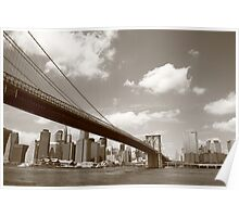 Brooklyn Bridge - New York City Skyline Poster