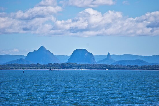 Glasshouse Mountains by Kim Austin